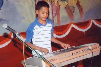 Nischay Playing Keyboard