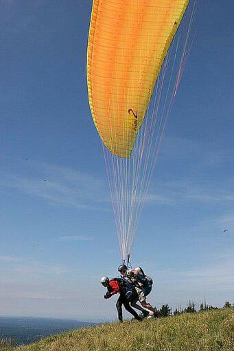 Taking off.. on a tandem flight!