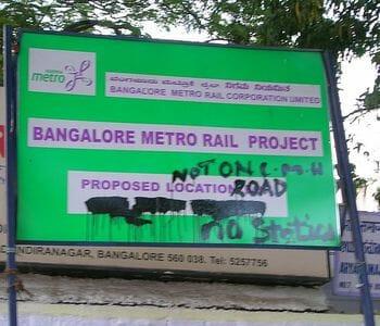 Bangalore Metro Rail Project Notice board