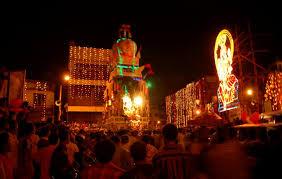 Karaga festival and crowds