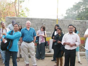 Kripa and Pankaj conducting the Malleswaram Heritage Walk