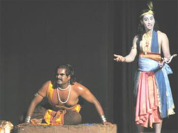 Manu as Duryodhna and Vijay as Krishna