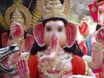 Ganesh idols at Madiwala market