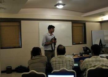 Kalyan Varma at Digital Photography Workshop demonstration