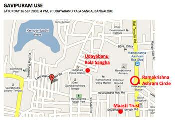 Map gavipura walk