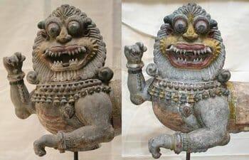 ICKPAC restoration of Simhavahana sculpture