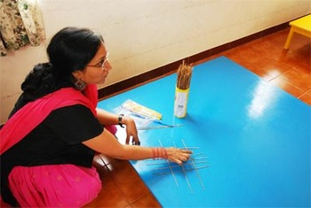 Mathematics with broomsticks: Teacher Sudha uses everyday, Bangalore, bengalooru, bengaluru