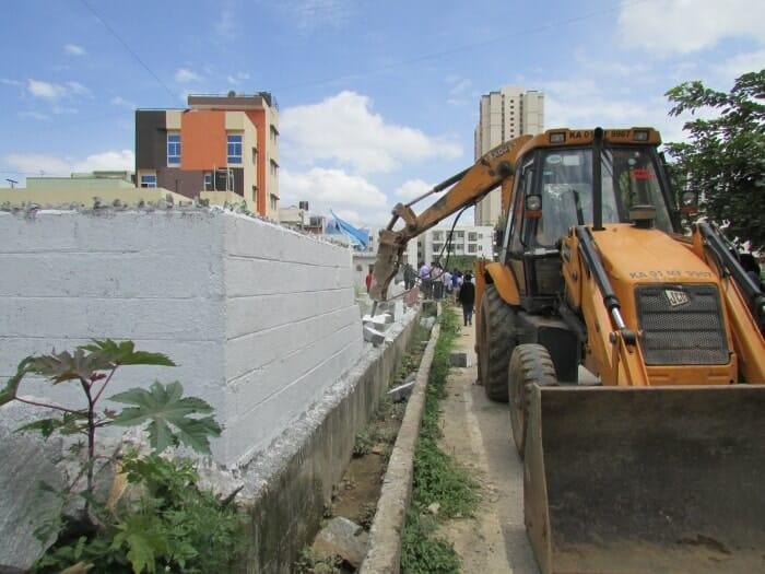 demolition of illegal structures in Bengaluru