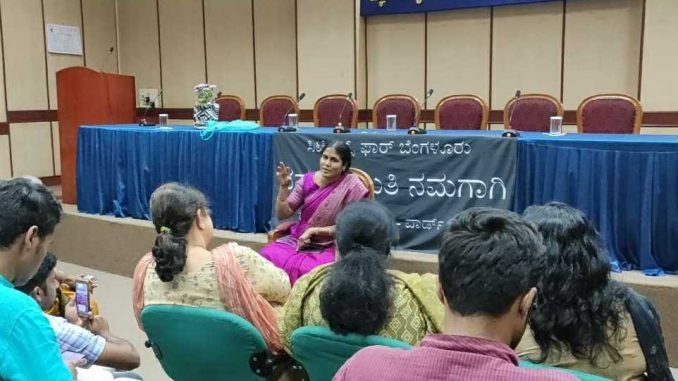 Mayor Gangambike Mallikarjun interacting with volunteers of Citizens for Bengaluru who organised a special meet to thank her for her cooperation. Pic: Ekta Sawant