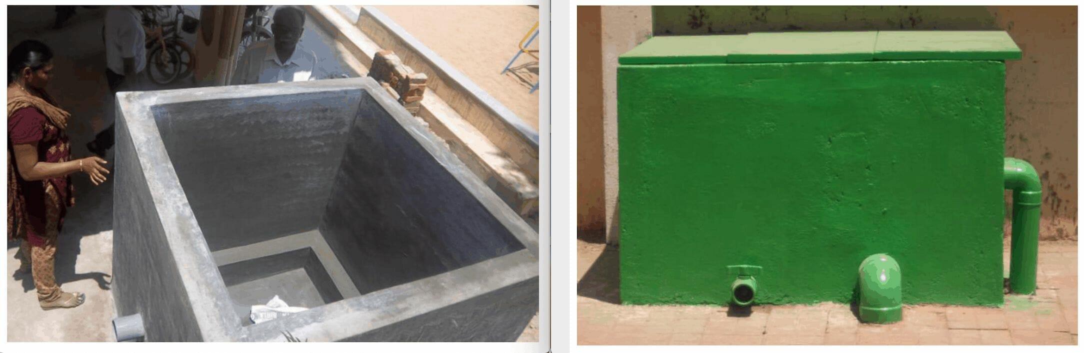 Rainwater harvesting filter unit.