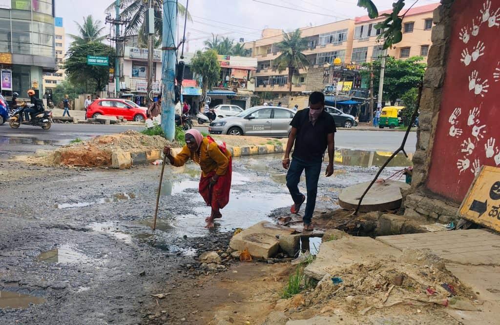 Potholes across the city roads inconvenience not just to commuters but also pedestrians.