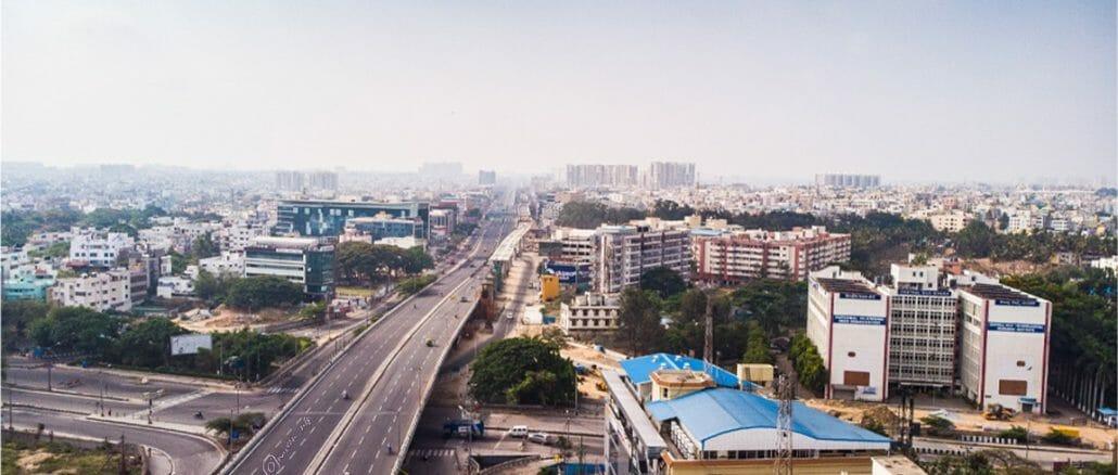 Bengaluru's Silk Board Junction during the COVID-19 lockdown. Pic: Naveeen Thomas Prasad