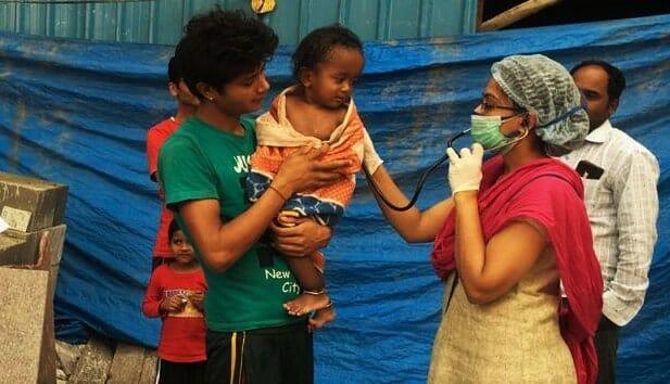 Health checkup for migrant children