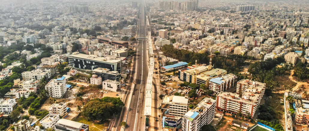 Bengaluru's Silk Board Junction during the lockdown. Pic: Naveeen Thomas Prasad