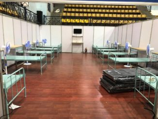 COVID Care Centre at Koramangala Stadium Bangalore. COVID Containment.