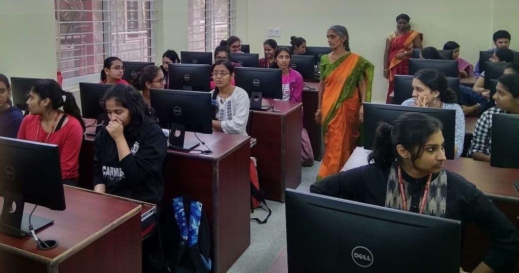Students in a Bengaluru classroom