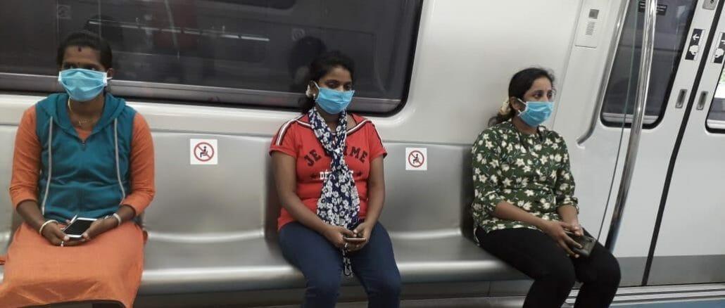 Passengers in Metro rail