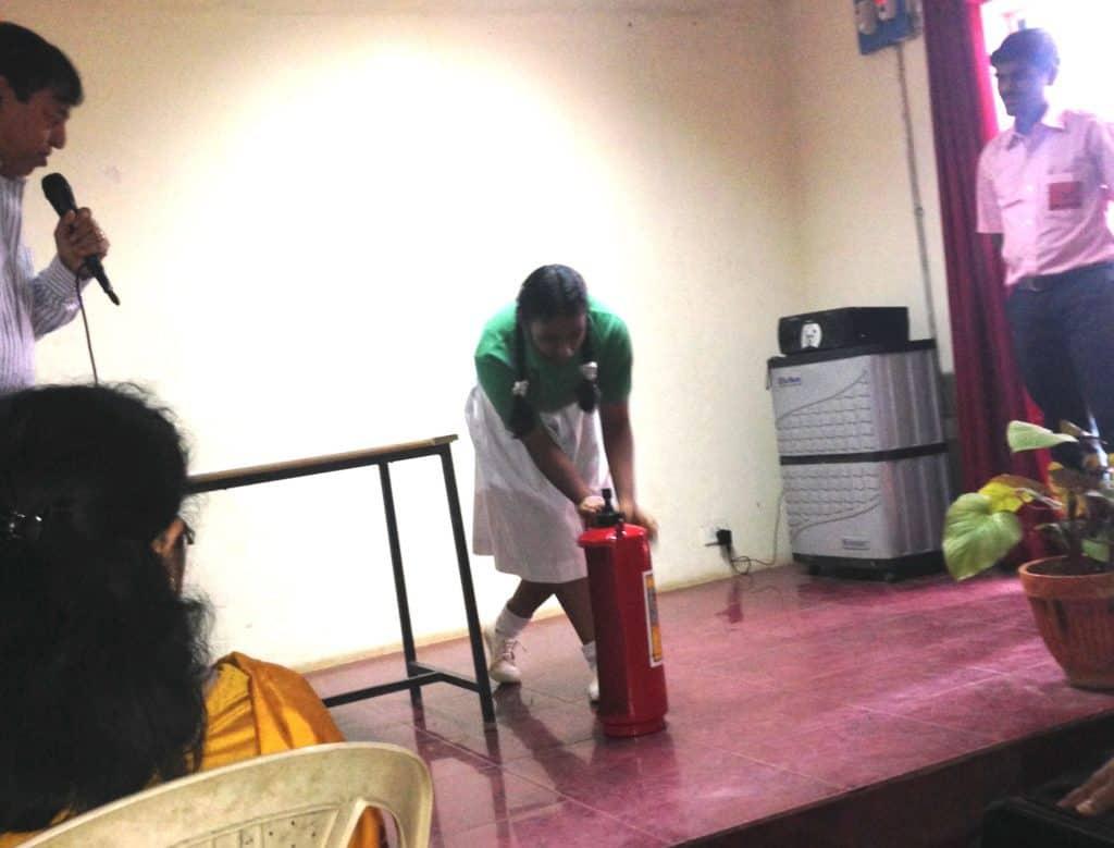 Fire safety training for school children