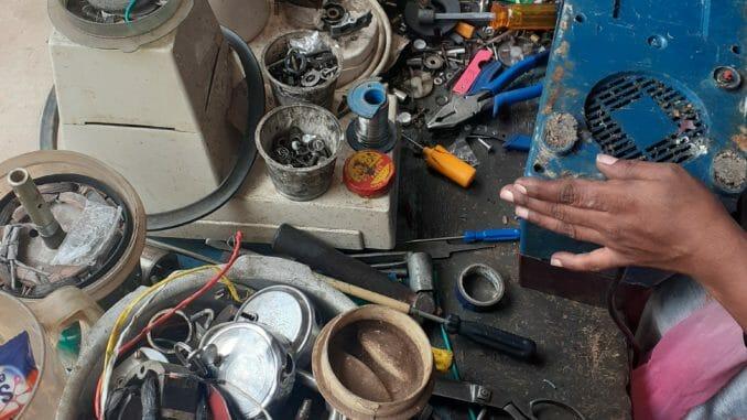 tools at a electrical repair shop
