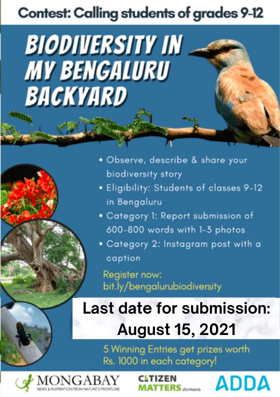 Biodiversity in my Bengaluru Backyard - contest poster