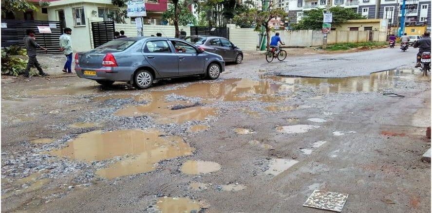 Yelenahalli Road riddled with potholes