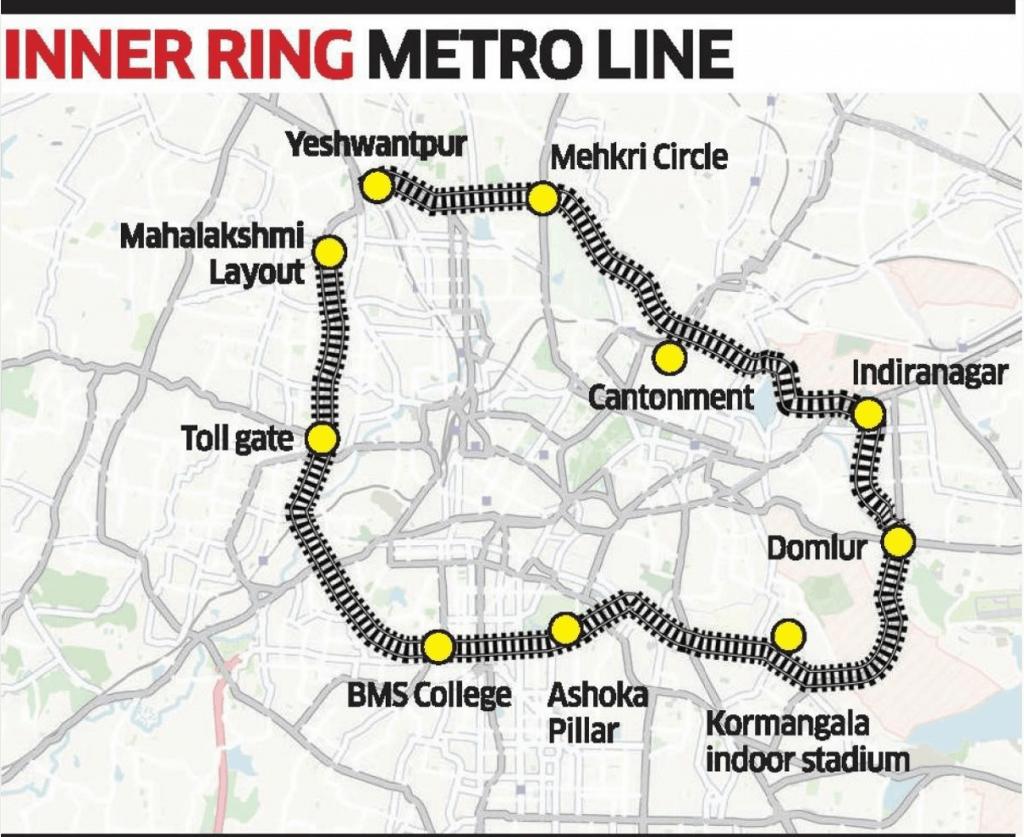 Bengaluru Inner Ring Metro (IRM) proposal by Lohith Kumar