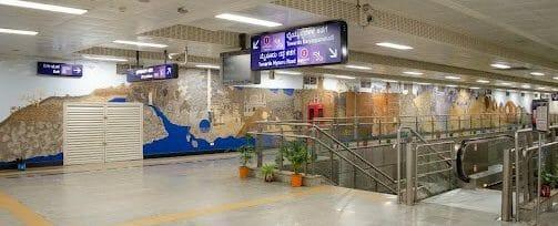 Mural at Cubbon Park Metro Station