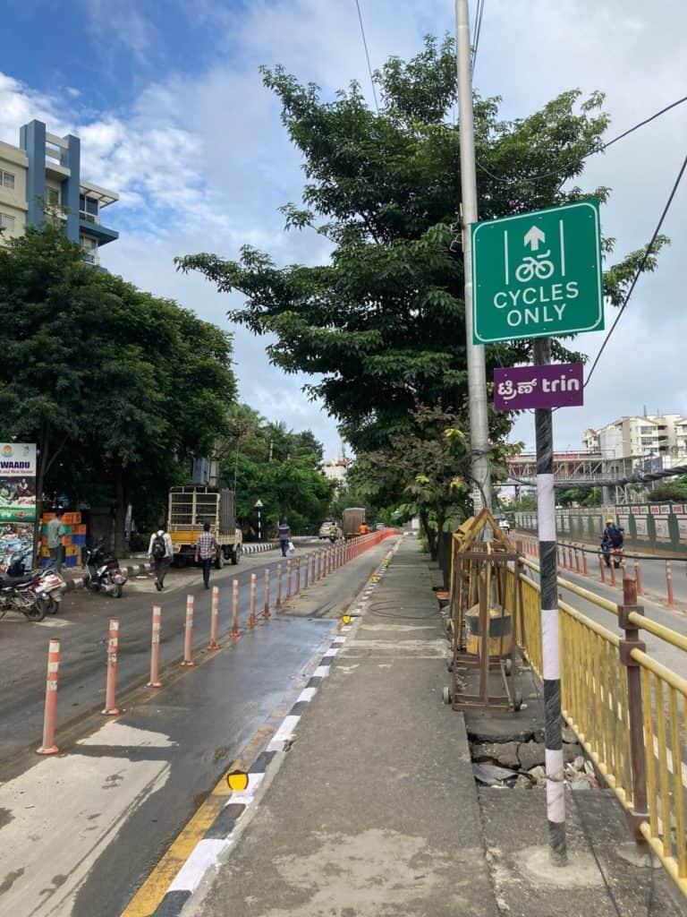 Cycling lanes in Bengaluru