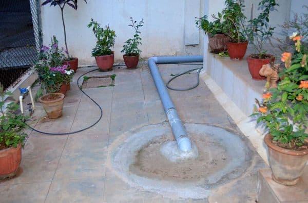 Rain water harvesting sump.