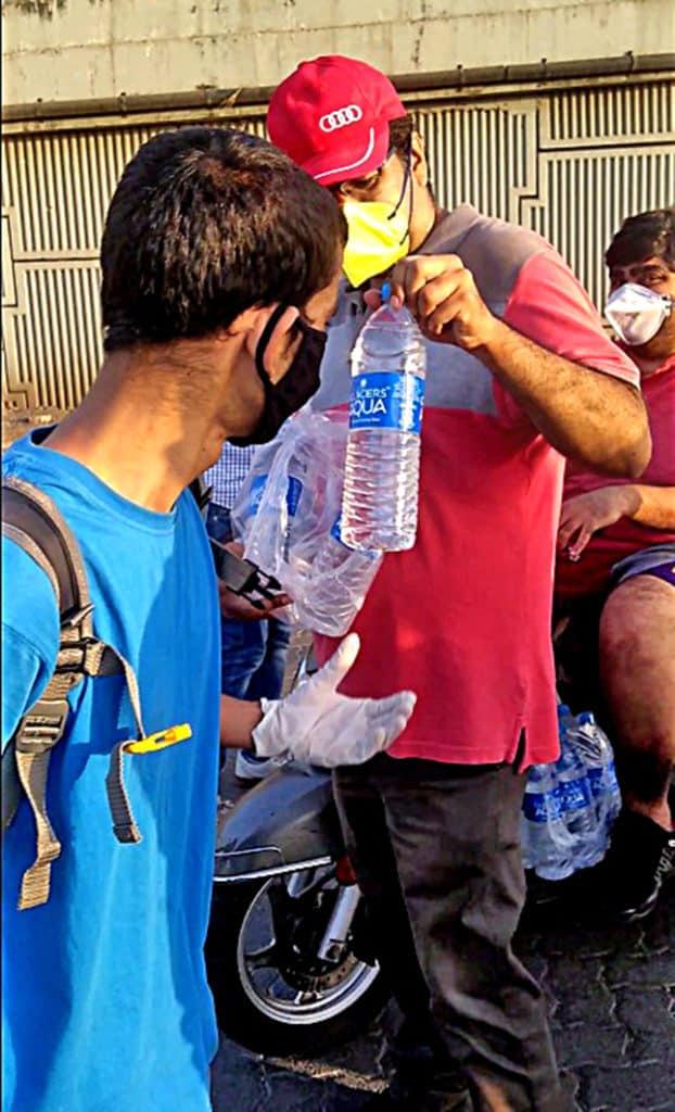 water bottle distribution