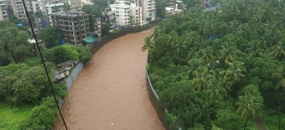 Flooding in the Sanjay Gandhi National Park.