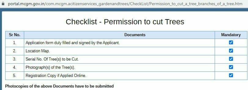 tree trimming checklist