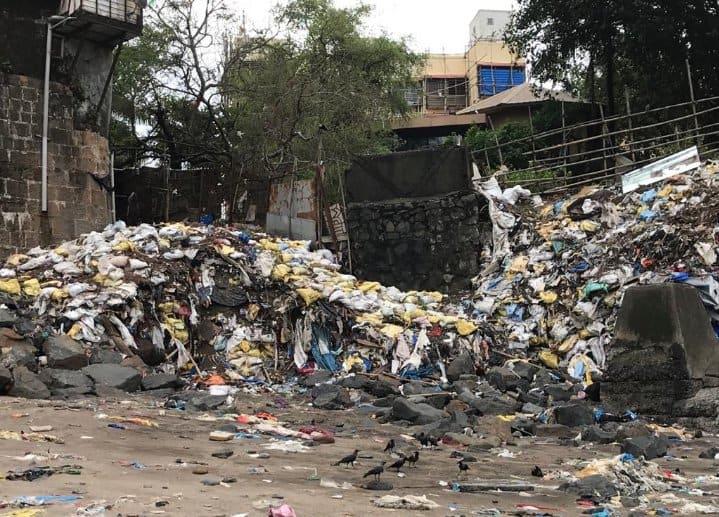 garbage dump at Mahim Fort