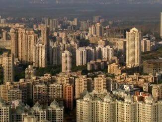 Mumbai skyline from powai