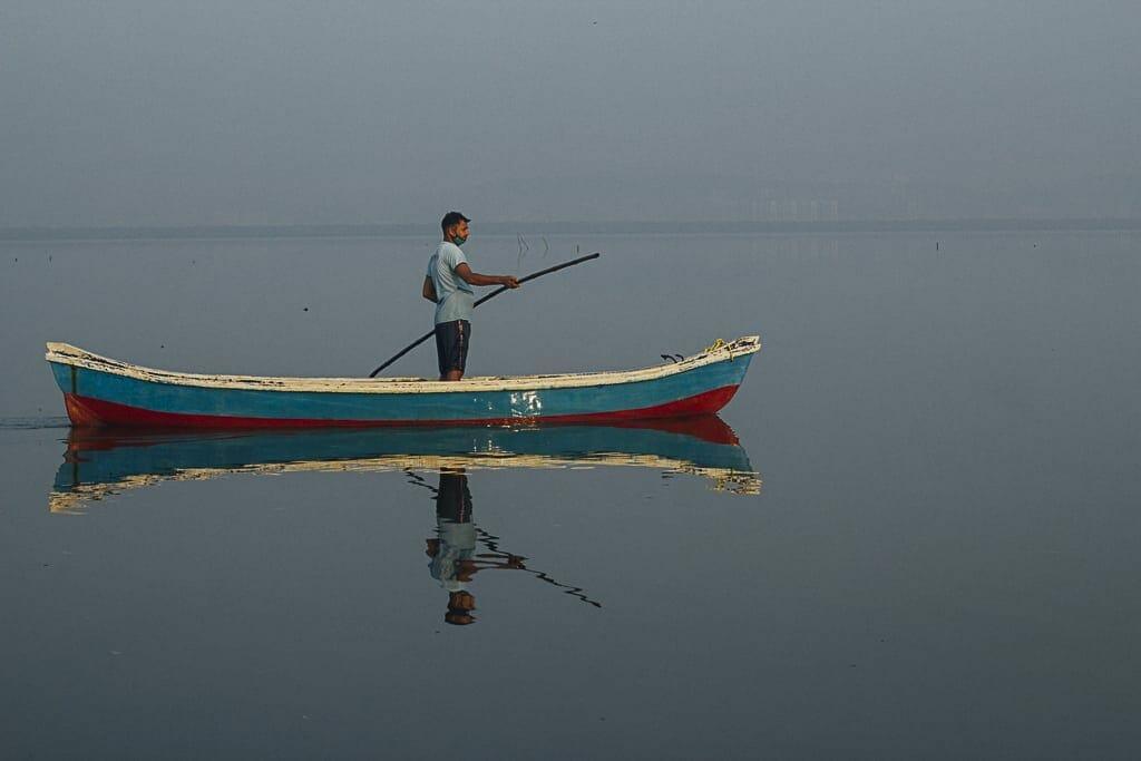 a Koli fisherman at sea