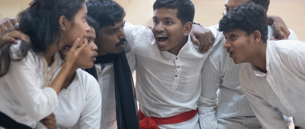 From a street play presented at the ComplexCity Bolti Bombay youth competitions. Pic: Vivek Venkatraman