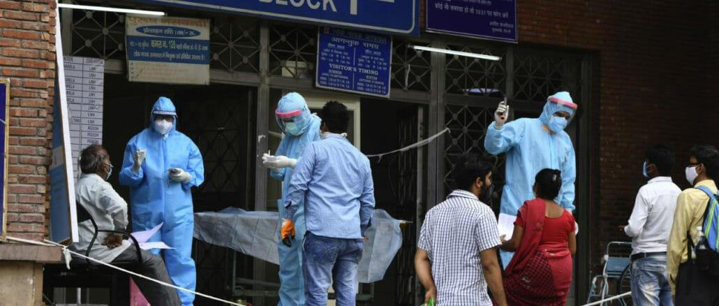 Covid care facilities in Lok Nayak Jaya Prakash hospital Delhi