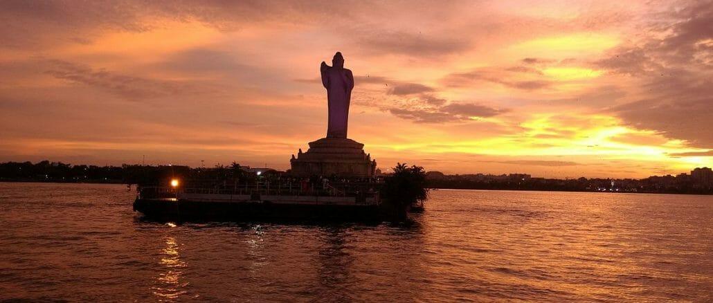 Hussain Sagar Lake, Hyderabad.