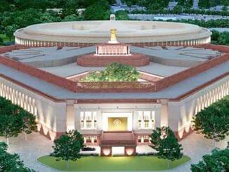 The new parliament, part of Delhi's Central Vista Redevelopment project
