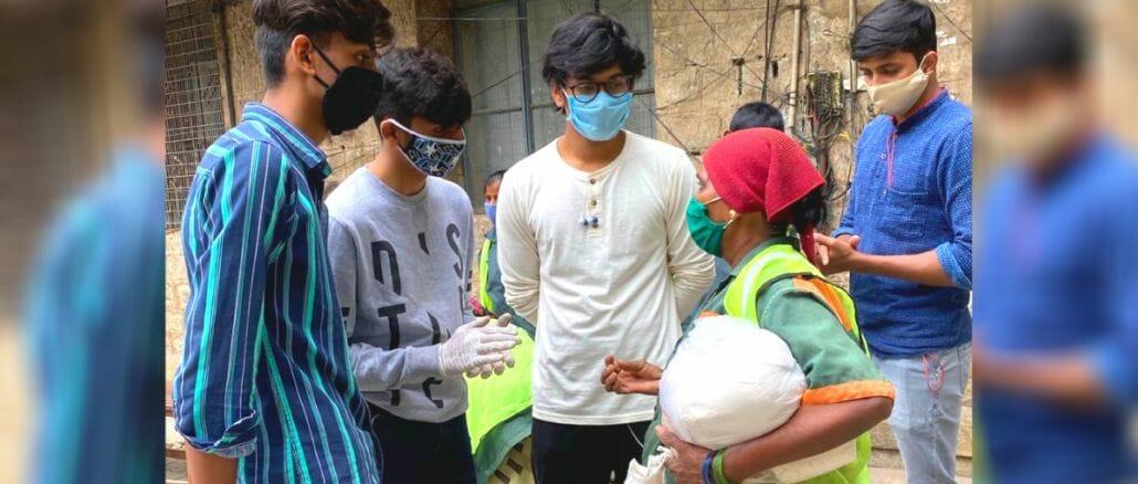 COVID relief volunteers in Bengaluru