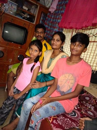 Saili and Mayank with their parents