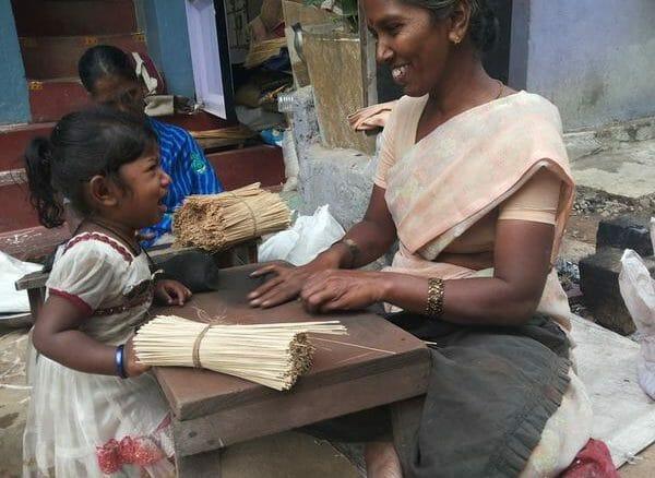 Working woman in Bengaluru slum