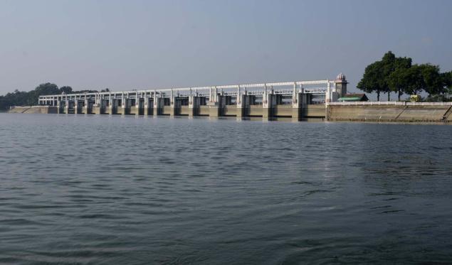 Poondi Reservoir. Pic: Puzhal2015, Wikimedia Commons