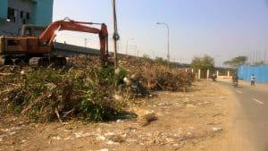 Waste dumped at Kotturpuram. Pic: Bhavani A P