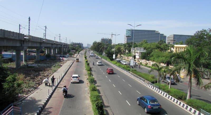 The six-lane IT Corridor on Old Mahabalipuram Road