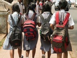 School children in Chennai