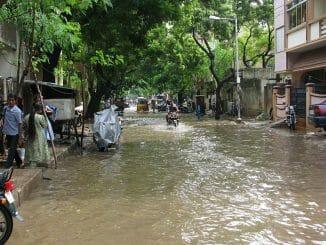 chennai flooded road
