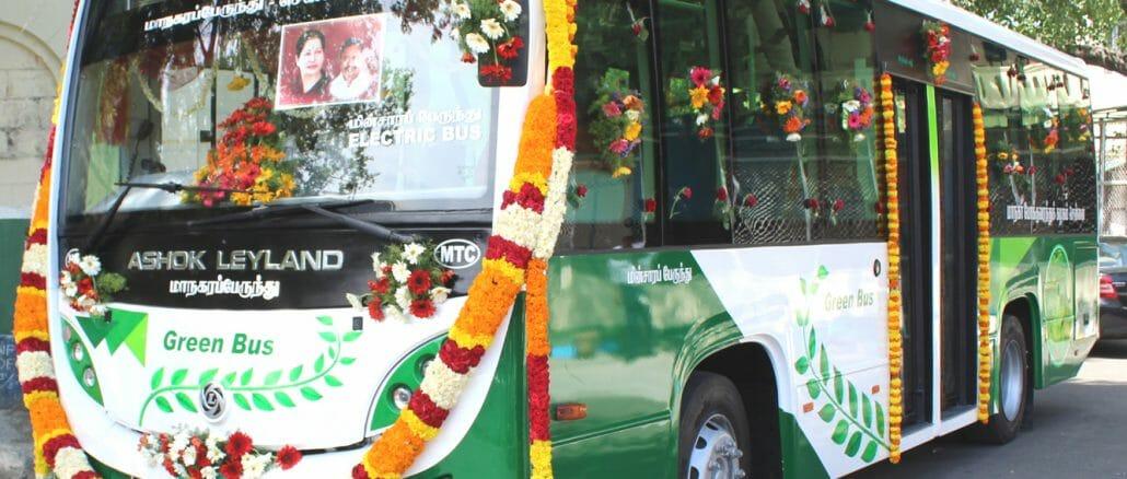 electric bus trial run in chennai