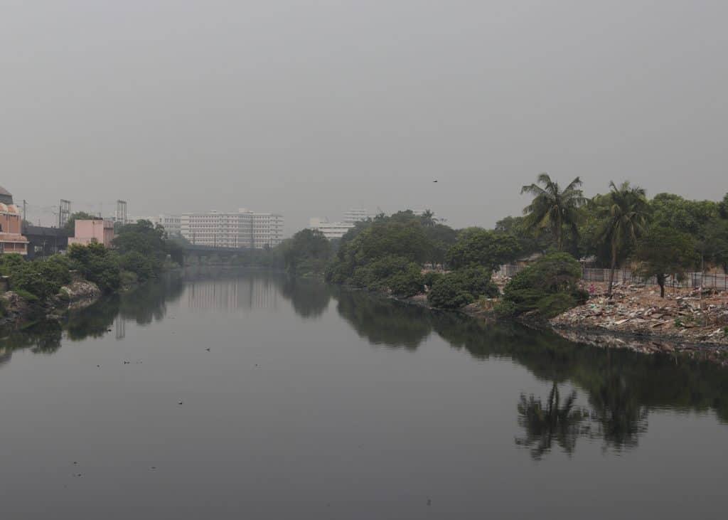 Cooum River near Chintadripet in Chennai