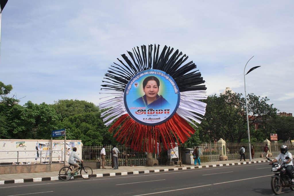 political hoarding chennai